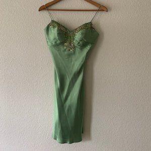 Green Cocktail Dress- Faviana Size 1/2